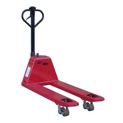 Semi-Electric Pallet Truck by Step and Store