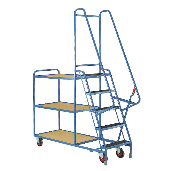 5 Step Tray Trolley S190-Step and Store