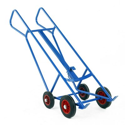 Pallet Loading Drum Truck with Bar Handles by Step and Store