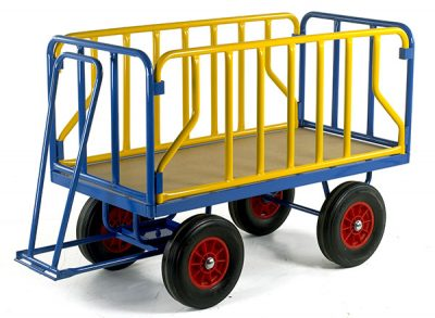 Turntable Trailer 1200 x 600 with Lift Off Tubular Sides by Step and Store