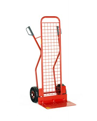 Budget High Back Sack Truck with Mesh Back by Step and Store