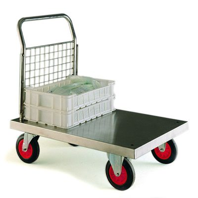 Stainless Steel Platform Truck by Step and Store