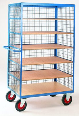 Shelf Truck with Mesh Superstructure by Step and Store