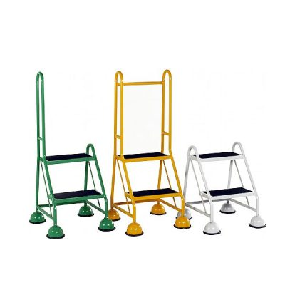 2 Step Ladders | Single Sided Mobile | Step and Store