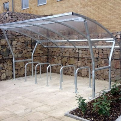The VELOPA Cambourne Cycle Shelter by Step and Store