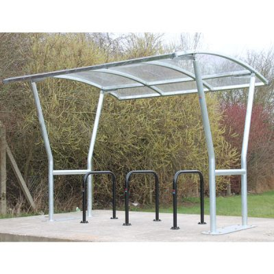 The VELOPA Harbledown Cycle Shelter by Step and Store