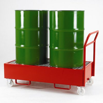 Mobile Drum Sump Trolley by Step and Store