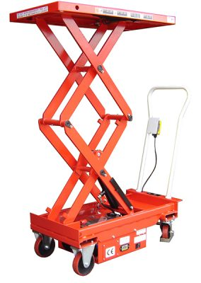 Budget Double Electric Scissor Lift Table by Step and Store