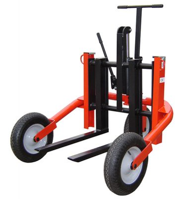 Rough Terrain Pallet Truck by Step and Store