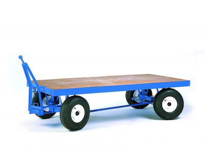 Heavy Duty Double Ackerman Towing Trailer | Step and Store