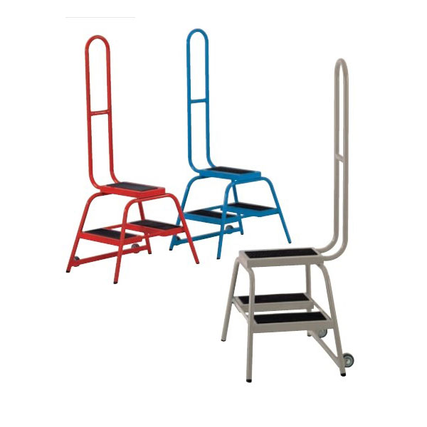 Steptek Wheelalong Two Step with Grab Handle   Step and Store