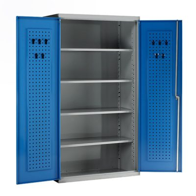 Euro Tall Double Door Cabinet by Step and Store