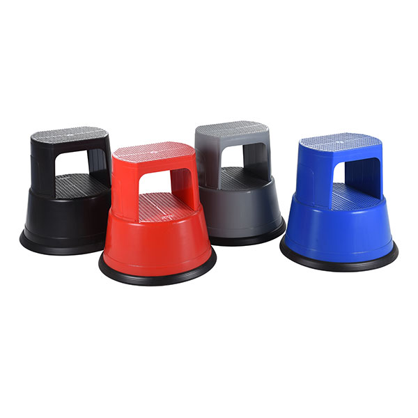 Four colourful Kick Step Stools