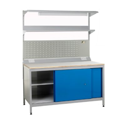 Sliding door workbenches