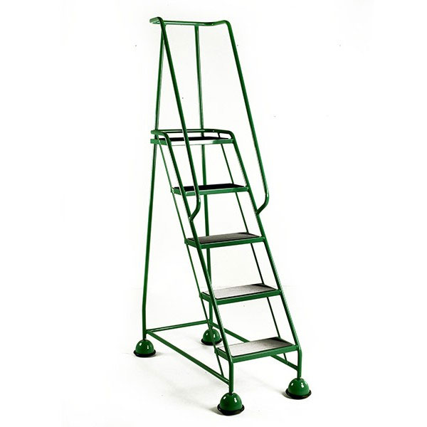 Green 5 tread mobile safety step