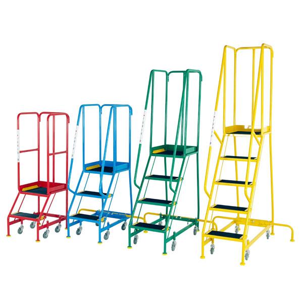 Shop EN131 Step ladder| Narrow Aisle Steps | Step and Store