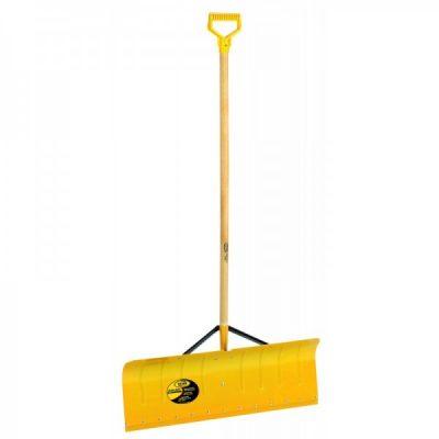 Yellow aluminium snow pusher