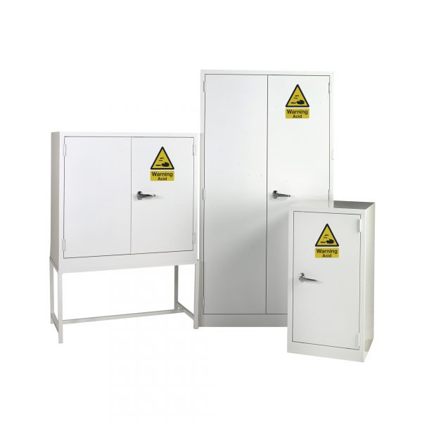 White Acid Cabinets by Step and Store