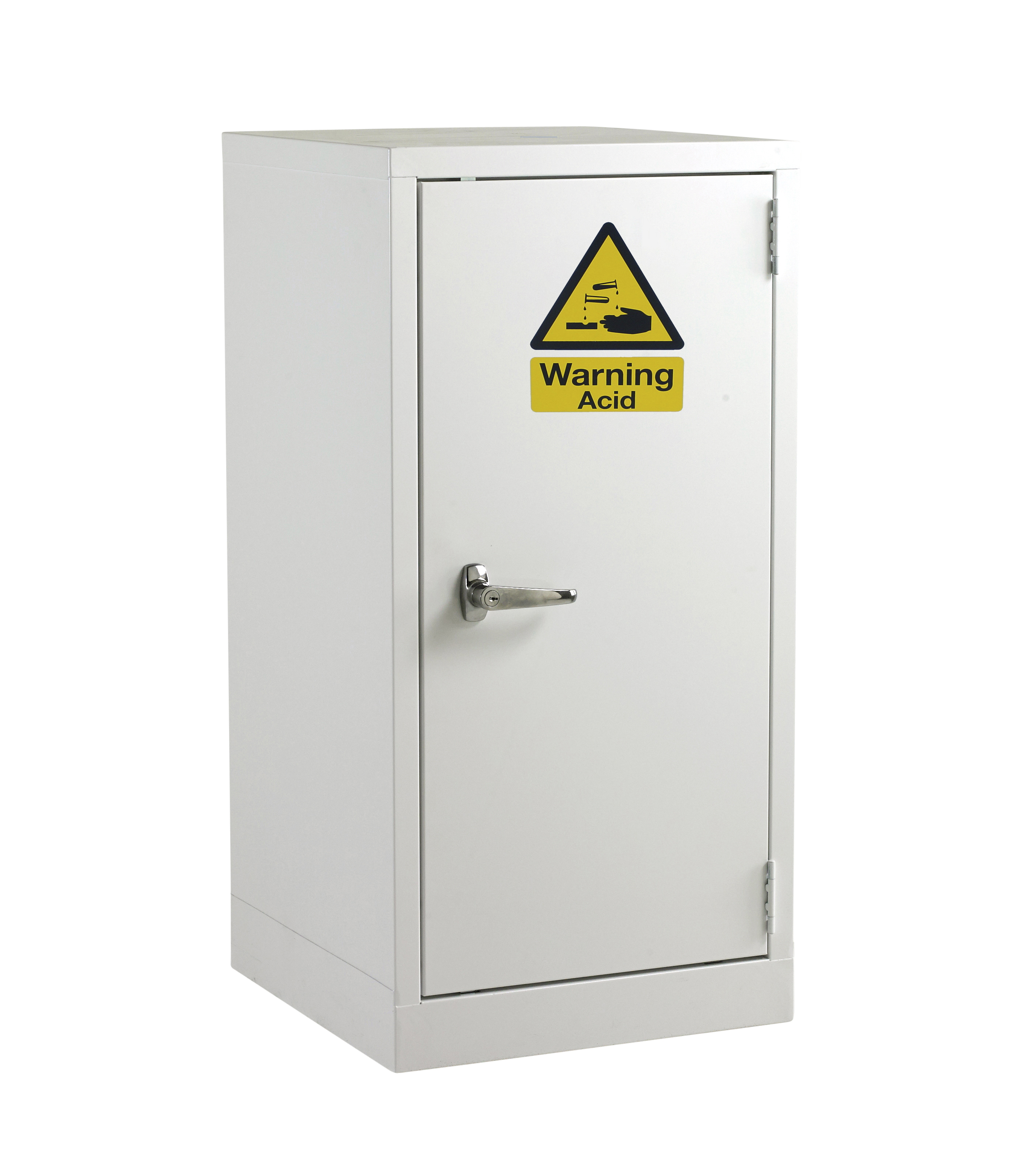White Acid Hazardous Cabinet by Step and Store