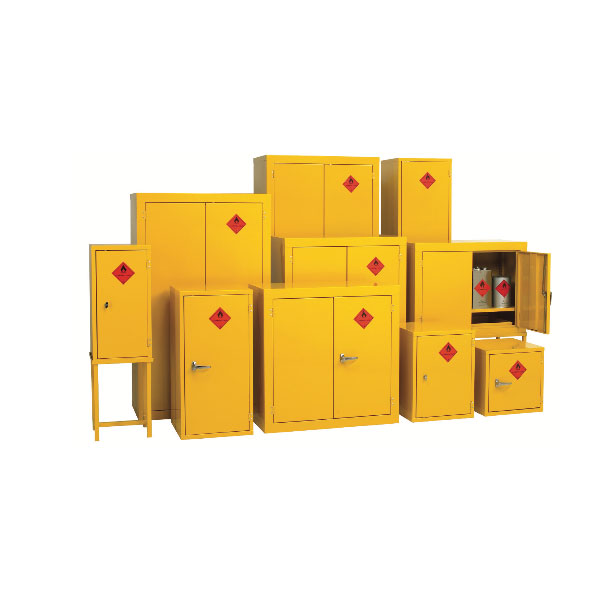 Flammable Cabinets yellow by Step and Store