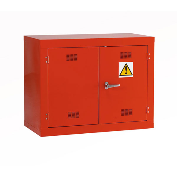Red Pesticide Hazardous Cabinet by Step and Store