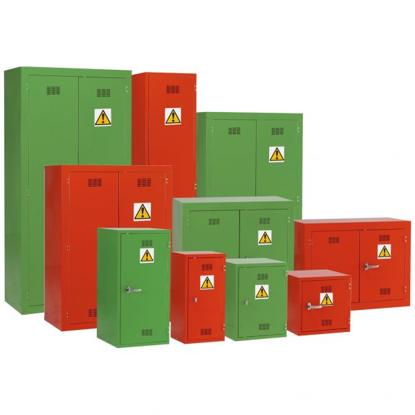 Pesticide Storage green and red by Step and Store