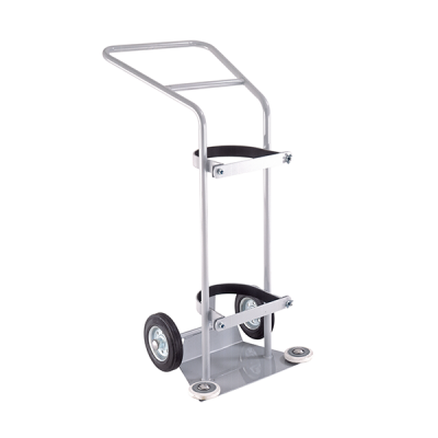 Large Oxygen Cylinder Trolley by Step and Store