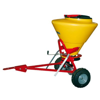 Step and Store Cemo SW130 PE Hopper towable grit and salt spreader