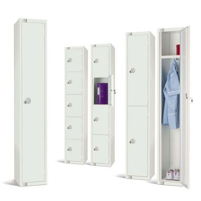 All White Lockers by Step and Store