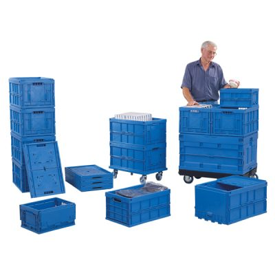 Re-Usable Folding Distribution Euro Containers by Step and Store