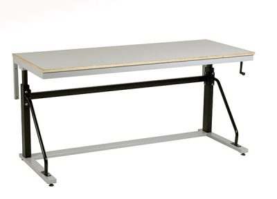 Cantilever Adjustable Height Workbench by Step and Store
