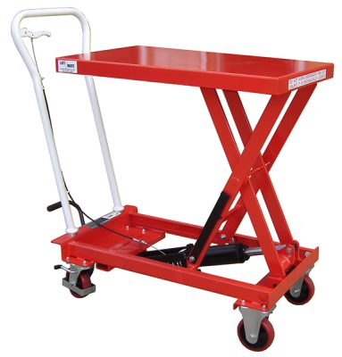 Budget Single Manual Scissor Lift Table by Step and Store