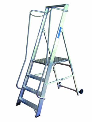 Aluminium Wide Step Ladders from StepandStore.co.uk