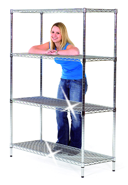 Chrome Shelving by Step and Store