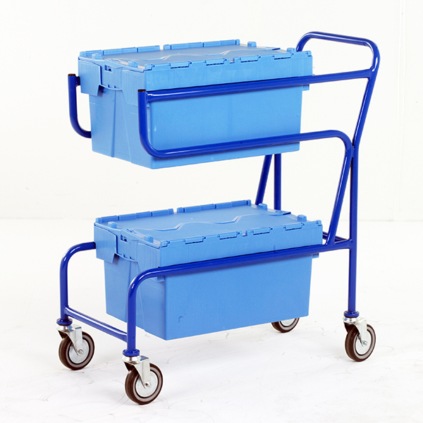 Multi-Trip Container Trolley by Step and Store