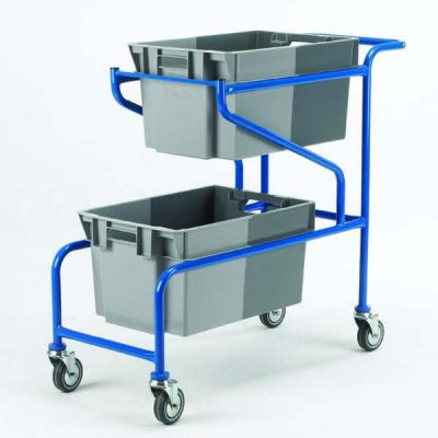 Container Carry Trolley by Step and Store