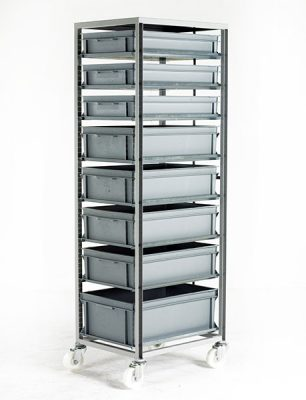 Adjustable Tray Rack by Step and Store
