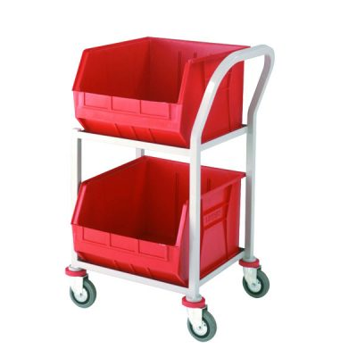 Plastic Tote Trolleys by Step and Store