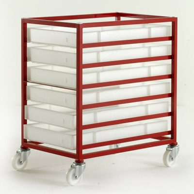 Food Grade Mobile Tray Rack by Step and Store