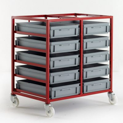Mobile Tray Rack for 120mm High Trays by Step and Store