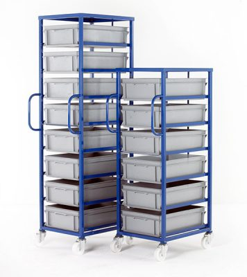 Mobile Tray Rack for 175mm High Trays by Step and Store