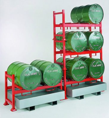 Stacking Drum Pallet Unit by Step and Store