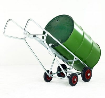 Zinc Pallet Loading Drum Truck by Step and Store