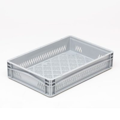 Euro Stacking Containers Basicline Range - Ventilated by Step and Store