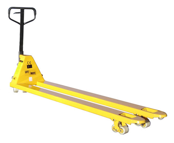 Extra Long Pallet Truck by Step and Store