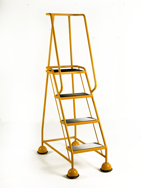 Yellow 4 tread mobile safety step
