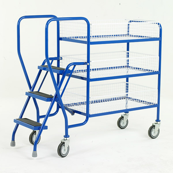 Medium Step Tray Trolley 3 Step by Step and Store Ltd