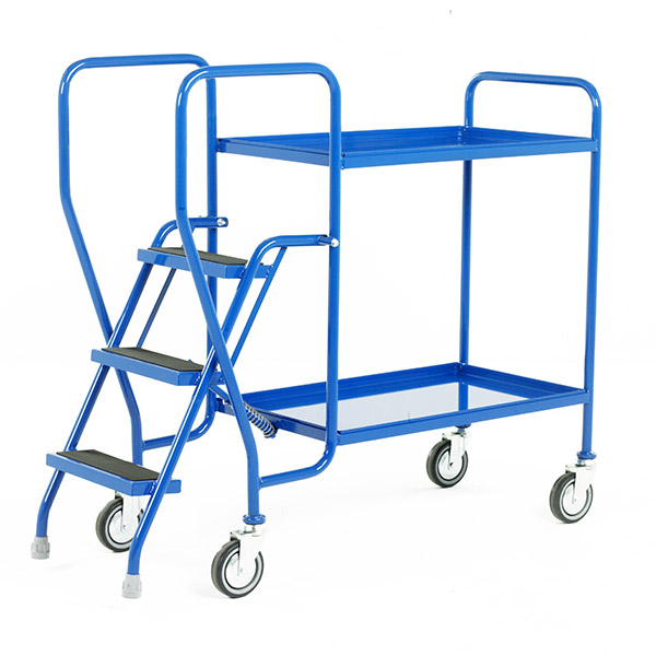 3 Step Tray Trolley Medium Duty by Step and Store