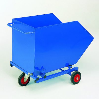 Tilting Skip Bin with Perforated Base & Drain Tap by Step and Store