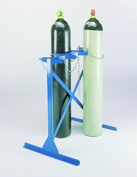Heavy Duty Floor Fixing Cylinder Racks by Step and Store
